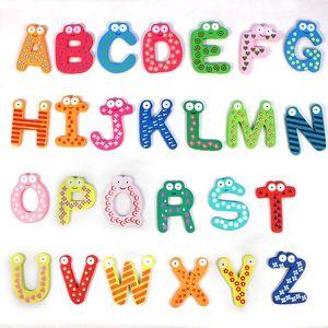 CONSOLE ÉDUCATIVE 26 lettres en bois aimant pour réfrigérateur Carto