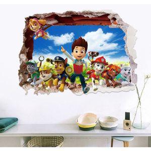 STICKERS PAT PATROUILLE DIY Autocollant Muraux Pour Enfants