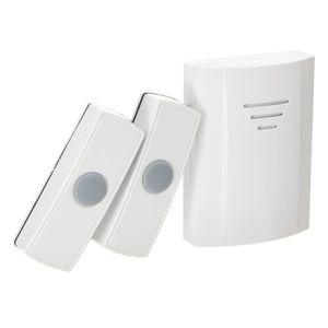 SONNETTE - CARILLON ELRO Carillon sans fil portable avec 2 boutons pou