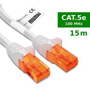 CÂBLE RÉSEAU  mumbi 15m Cat.5e Ethernet Lan câble réseau - Câble