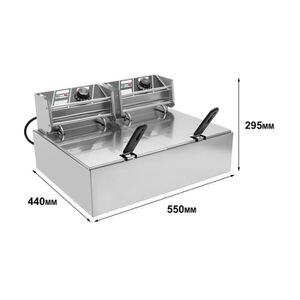 FRITEUSE ELECTRIQUE Friteuse électrique double inox pro 2x10L