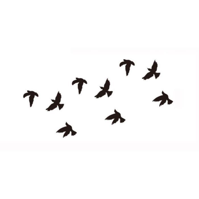 tatouage temporaire de couleur noire oiseaux achat. Black Bedroom Furniture Sets. Home Design Ideas