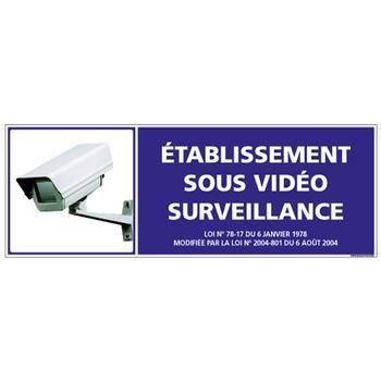 SIGNALISATION SÉCURITÉ Adhesif de signalisation -Etablissement sous Vidéo