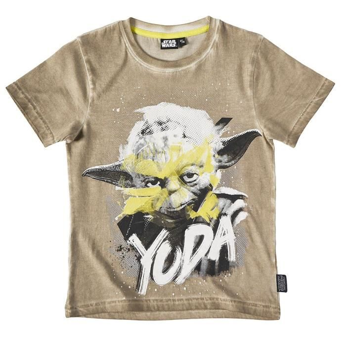 53a3bfc133b7e T-shirt enfant garçon Star Wars Beige de 6 à 12 ans - Beige, 9 ans ...