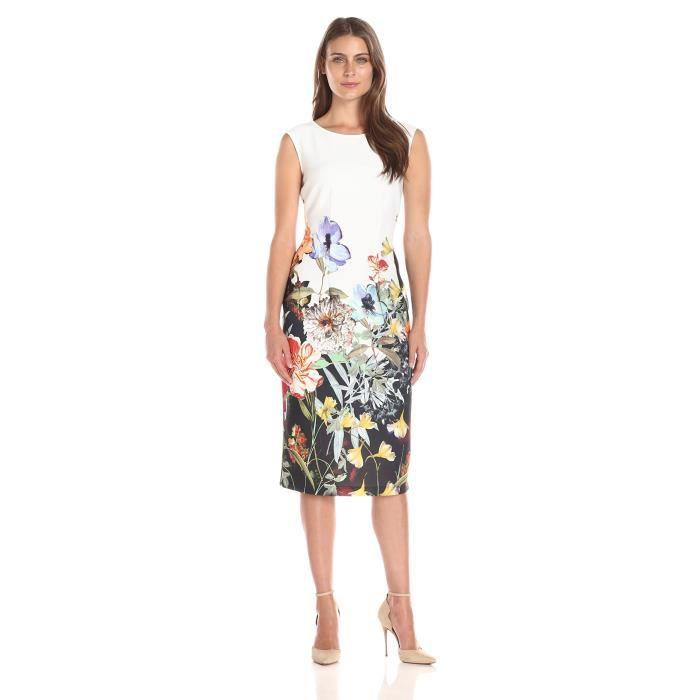 S.l. Fashions Robe de toilette imprimée floral à imprimé féminin Q61TU
