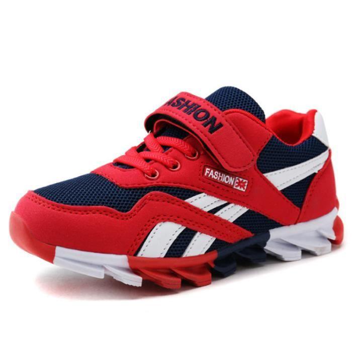 Chaussures Enfants De Sport Garçons Filles Casual Sneakers BDG-XZ097Rouge27 chAI8fj
