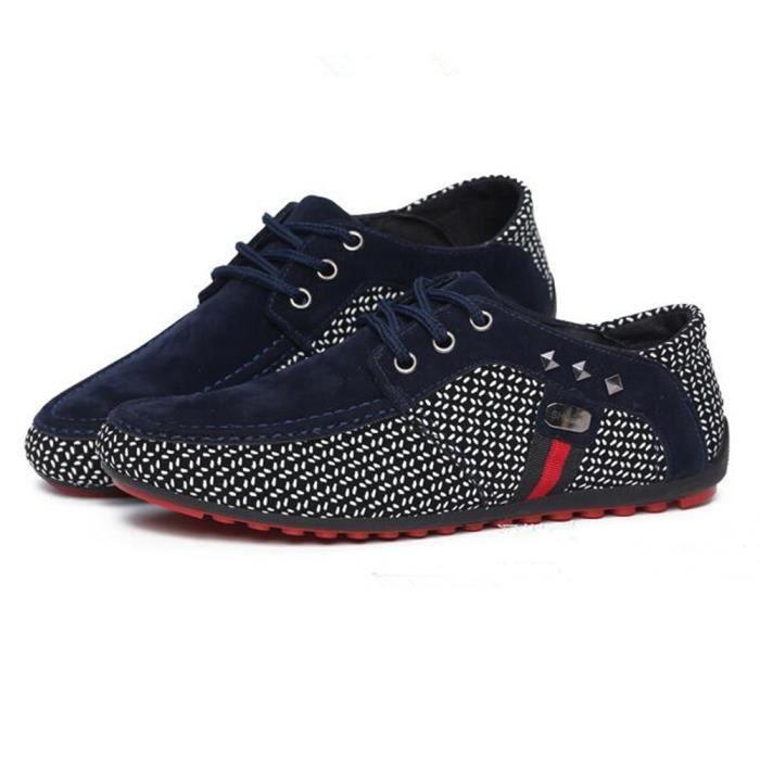homme Nouvelle hommes Confortable Supérieure Grande Mode Chaussures Moccasins Respirant Moccasin casual Taille Qualité ete x1CYqTzwz
