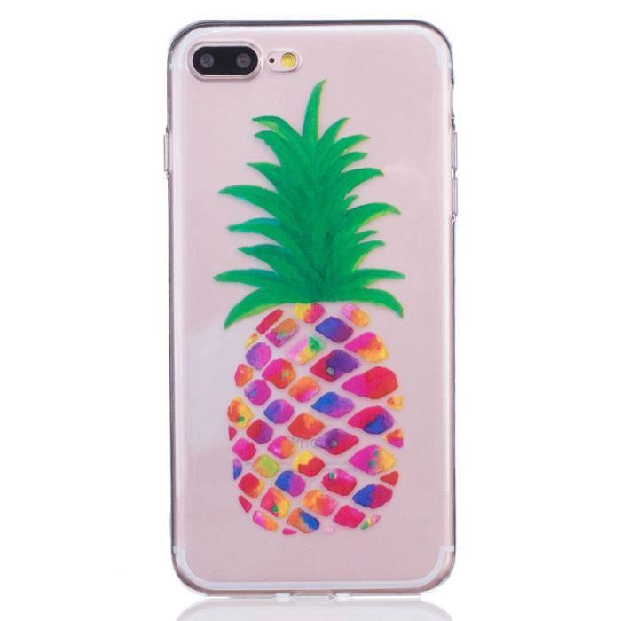 coque iphone 7 plus silicone ananas