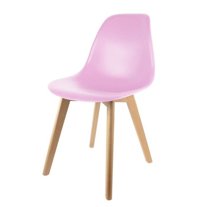chaise chaise scandinave coque h 83 cm rose - Chaise Scandinave Rose