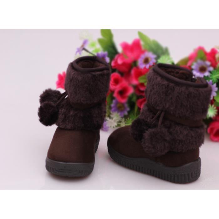 Botte Les enfants épaississent des bottes de neige chaudes