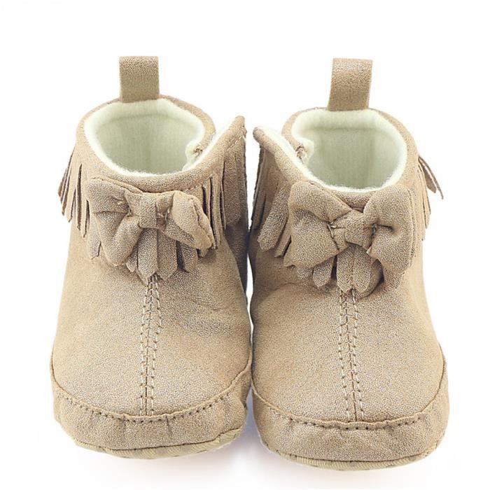 BOTTE Toddler nouveau-né bébé garçon fille bowknot bottes Prewalker Martin chaud chaussures@KhakiHM