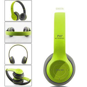 CASQUE - ÉCOUTEURS Aihontai P47 Bluetooth 4.1 stéréo pliable Casque m