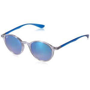 08947a6bc6ebf Lunettes de soleil rondes de la femme en bleu dégradé transparent Brown  Miroir Rb4237 62894o 50 TWQB1