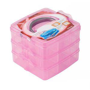 BOITE A BIJOUX Nouvelle boîte en plastique transparent stockage b