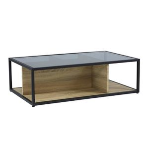 grande vente 3b25b bbbcf TEYTRIS Table basse style contemporain en métal laqué noir ...