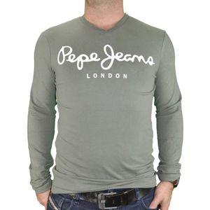 T shirt homme pepe jeans col en v - Achat   Vente pas cher 7b38bc310516