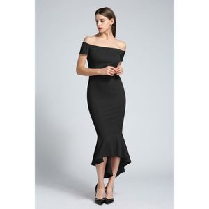 8f08bd7f0305d ROBE Manches courtes femme Robe épaules Robes simples S