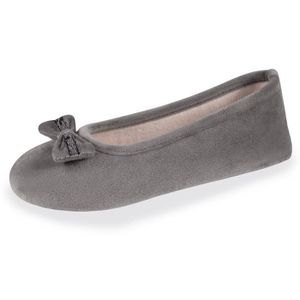 CHAUSSON - PANTOUFLE Chaussons femme Well nud dentelle - Gris - 91016-A