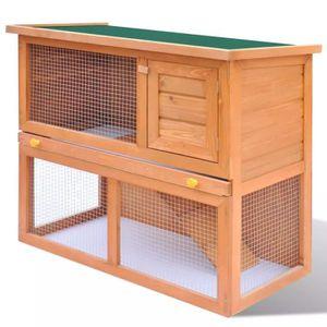 CLAPIER Clapier 1 porte Abri Cage pour petits animaux Bois