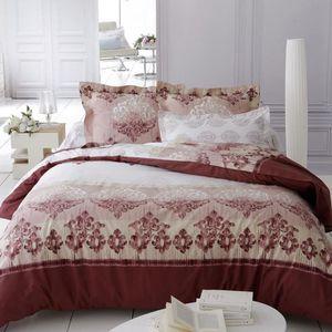 DRAP HOUSSE Drap housse percale motifs baroques Vérone blanc M