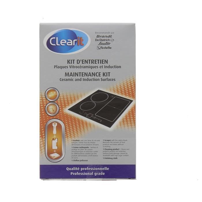 Kit d'entretien pour plaques vitrocéramiques et induction