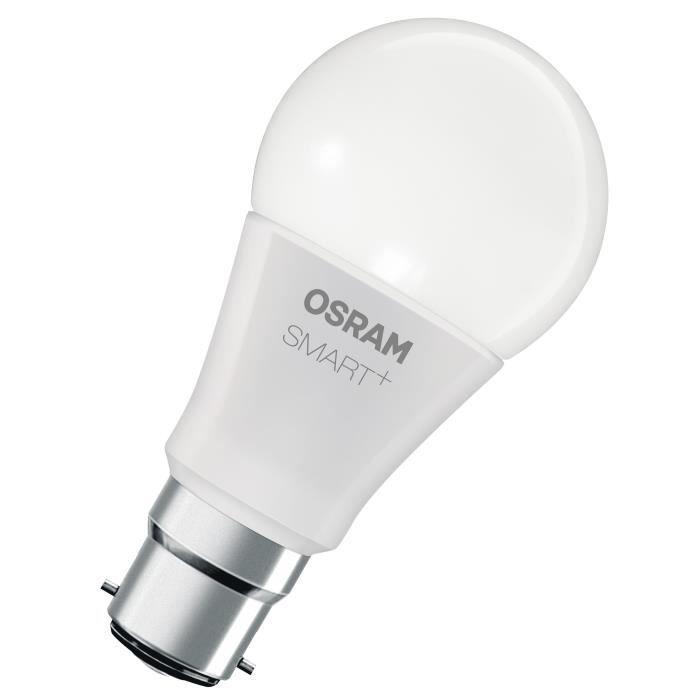 OSRAM SMART+ Ampoule connectée LED B22 10 W équivalent à 60 W couleur RGBW