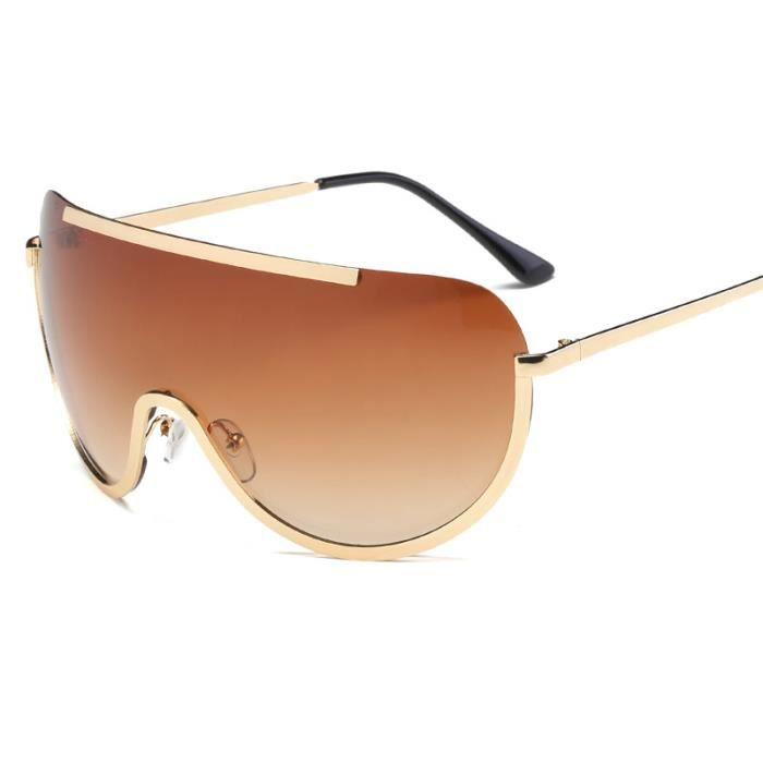 Marée de deux couleurs de locéan pièce grande monture de lunettes de soleil