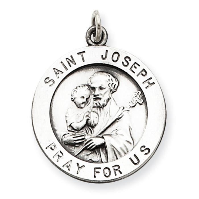 St. Joseph-Argent 925/1000–médaille charme
