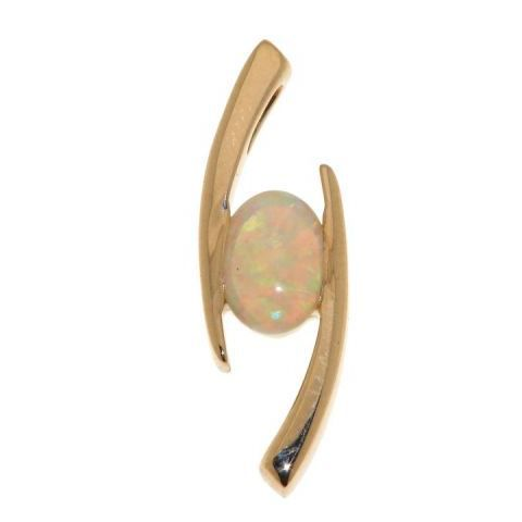Pendentif or jaune Opale
