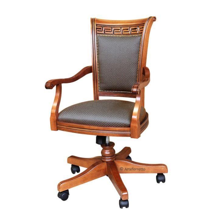 Fauteuil de bureau classique tournant - Achat / Vente chaise de ...