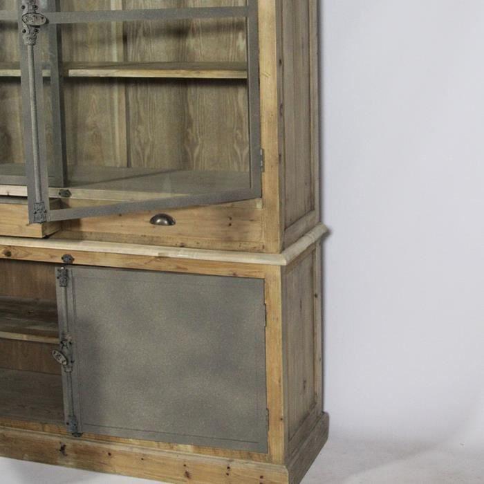 isselier authentiq en bois recycl naturel achat vente vitrine argentier vaisselier. Black Bedroom Furniture Sets. Home Design Ideas
