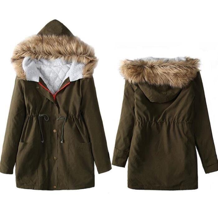 7adcfd28b469 MANTEAU - CABAN SIMPLE FLAVOR Manteau d hiver Femme Outdoor vêteme