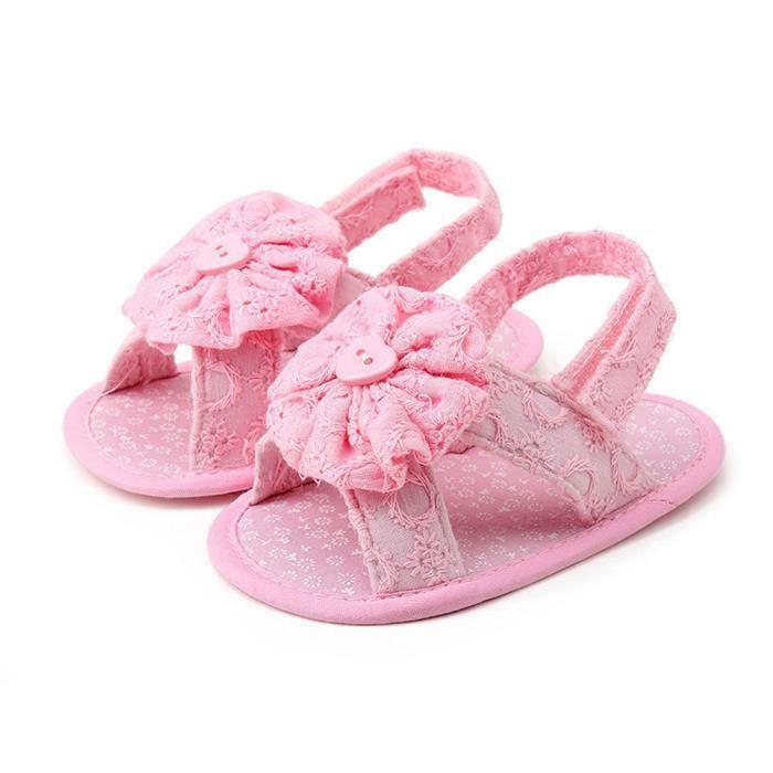 Frankmall®Bébé Fleur sandales princesse premiers marcheurs filles enfants Chaussures#WQQ0926428 Iy6K5