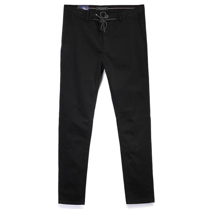 Serrage Tendance Cordon Fit Homme De En Couleur Unie Slim Avec Pantalon Coton 0vOyN8mnw