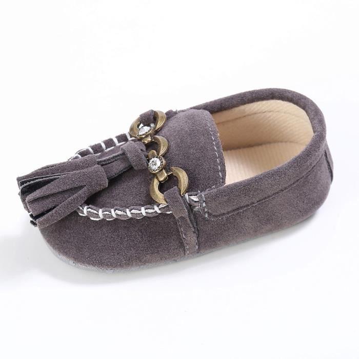 Bb On Prewalker Slip Lit Confort petits Tout Doux Anti Mignon gris Mocassins Chaussures rwq6rSp