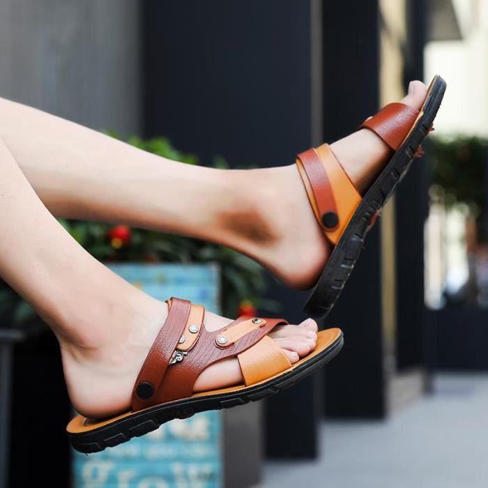 Chaussures Mode La Créatif Simple Nouveaux Sandales Été Occasionnelles 2018 De Hommes PqZCIwB