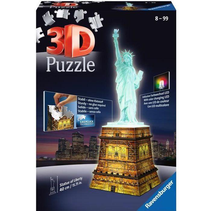 PUZZLE RAVENSBURGER Puzzle 3D Statue de la Liberté Night