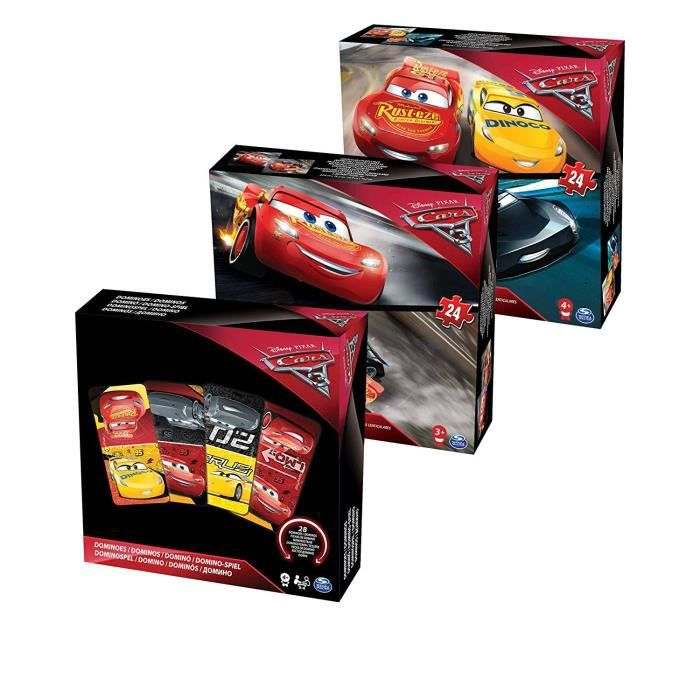 PUZZLE CARS 3 - Pack Puzzles + Jeux Spinmaster