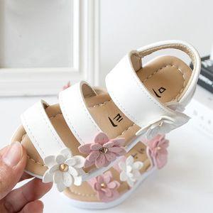 BOTTE Les filles d'été sandales découpées Outsdler fille sandales enfants chaussures plates occasionnels@BlancHM Oj6AiNnAZy