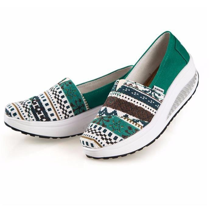 Chaussures Femme Printemps Été à fond épaiséChaussure XFP-XZ064Vert38