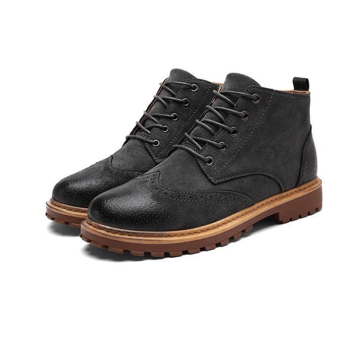 Bottine Homme Comfortable Classique Chaussure Hommes BYLG-XZ218Noir43