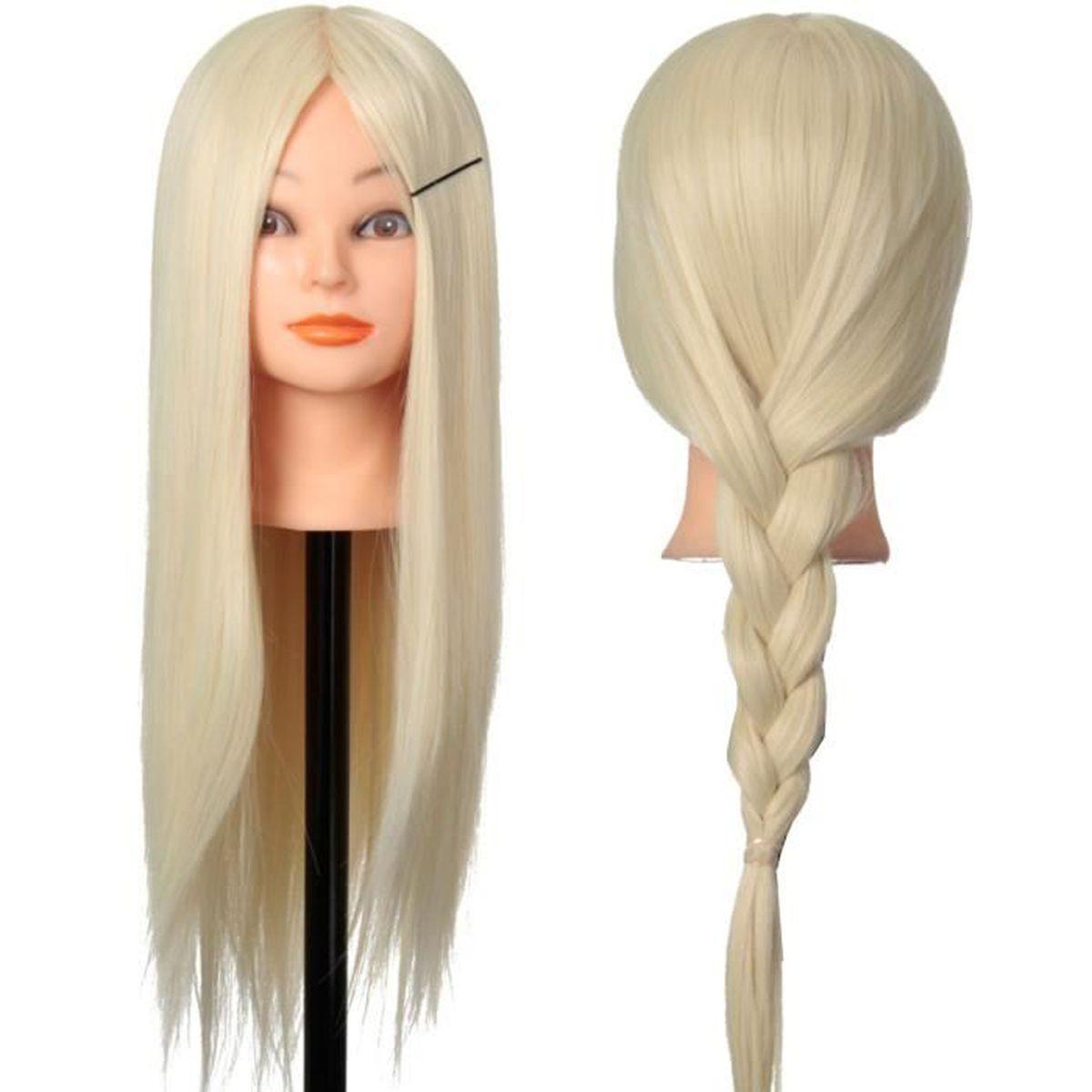 tete a coiffer cheveux long achat vente tete a coiffer cheveux long pas cher soldes d s. Black Bedroom Furniture Sets. Home Design Ideas