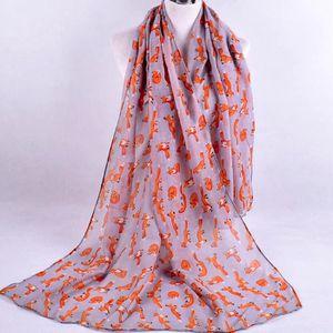 5a53fab054 ECHARPE - FOULARD BLS067 Foulard en mousseline imprimé pour femmes G