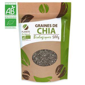 CÉRÉALES - MÉLANGES Graines de Chia Bio - 500 gr