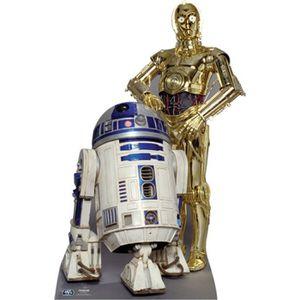 FIGURINE - PERSONNAGE Figurine en carton taille réelle R2D2 & C3PO St…