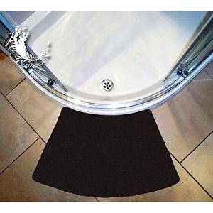 TAPIS DE BAIN  Petit tapis de douche noir courbé