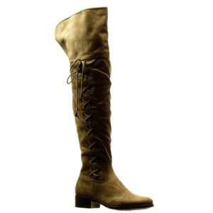 BOTTE Angkorly -  Cuissarde  souple femme lacets noeud T