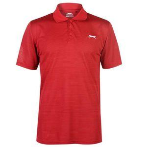 POLO Slazenger Golf Polo T-Shirt Micro Rayé Manche Cour