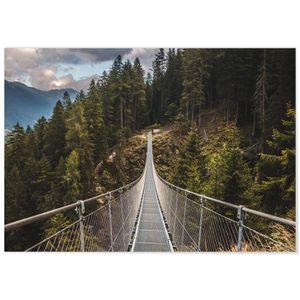 TABLEAU - TOILE Panorama® Tableau Pont Suspendu 70 x 50 cm - Impri
