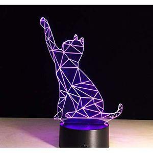LAMPE A POSER 3D Lampe Illusion Optique Led Veilleuse 7 Couleur